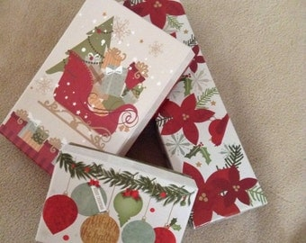 SALE Three Gift Boxes - Christmas Gift Boxes