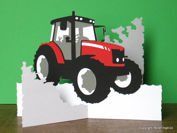 Fathers Day Card Tractor Birthday Card Tractor Gifts Gift – Tractor Birthday Cards
