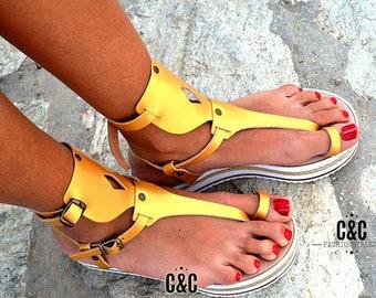 "Women Leather Sandal ""Aphrodite"", strappy sandals, genuine leather, Greek sandals,Gladiator sandals,gold"