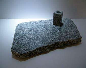 Trivet and Toothpick Holder, Natural Granite Polished Slab, Granite Board / Granite Stone Toothpick Holder,Kitchen Set