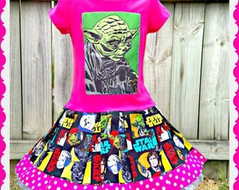 girls star wars chewbacca dress 4/5 6/6X 7/8 10/12 14/16 ready to ship