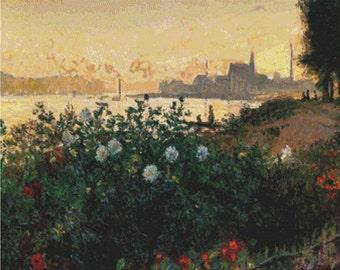 Flowers By The Riverbank PDF Cross Stitch Pattern