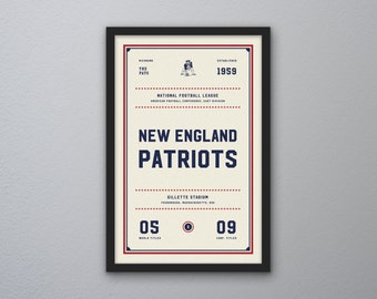 "New England Patriots ""Day & Night"" Print"