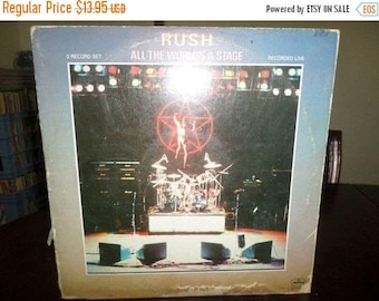 Save 30% Today Vintage 1983 Vinyl LP Record Rush All The World's A Stage Recorded Live Very Good Condition 6681