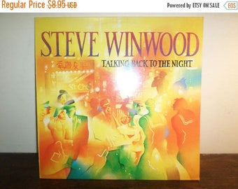 Save 30% Today Vintage 1982 Vinyl LP Record Steve Winwood Talking Back to the Night Excellent Condition 10016