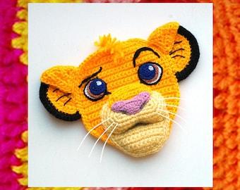 Crochet Pattern. Applique. Cute Little Lion