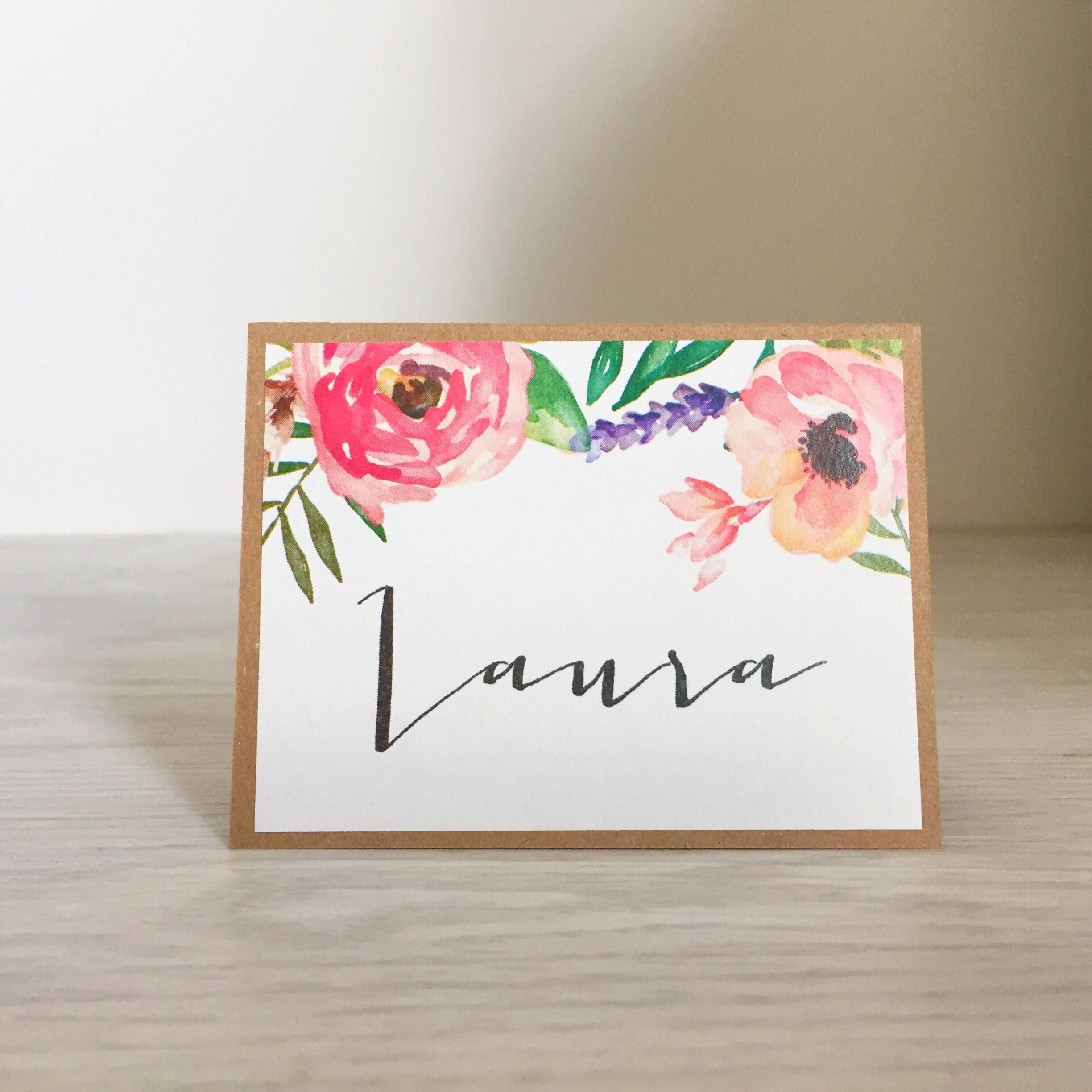 Personalized Name wedding place setting cards escort cards