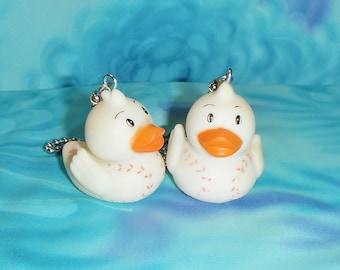 Set of Two ~ Sports Baseball Rubber Ducky Duck Vinyl ~ Ceiling Fan Pulls