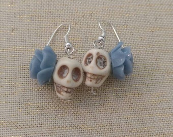 Dia De Los Muertos Skull Earrings.