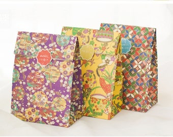 Set of 3 Paper Gift Bags - Japanese