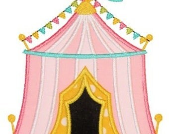 Personalized Circus Tent Big Top Applique Shirt or Onesie Girl or Boy