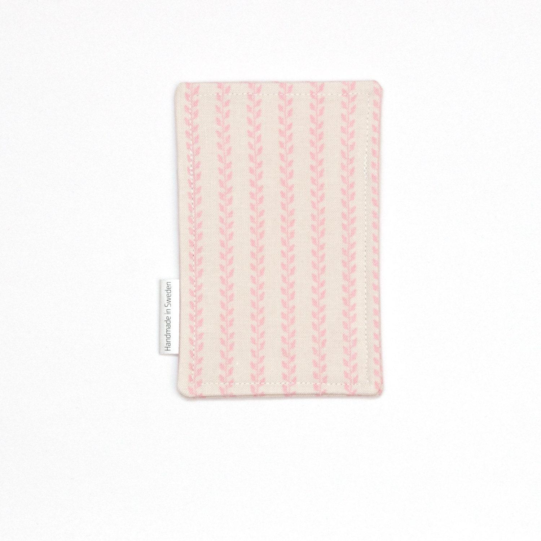 pink leaf striped slim card wallet minimalist wallet slim