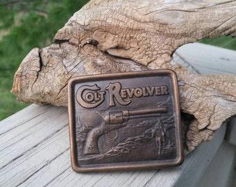 Colt Revolver Belt Buckle by Indiana Metal Craft 1976