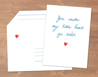 You make my little heart go wild // recycling Papier / Liebe / Valentinstag