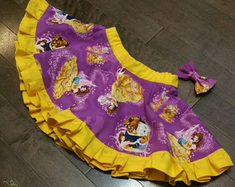Beauty and the Beast Skirt and Mini bow