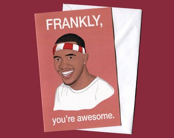 Frank Ocean Card (Celebrity Pop Culture Card, Greeting Card, Hip Hop Birthday Card)