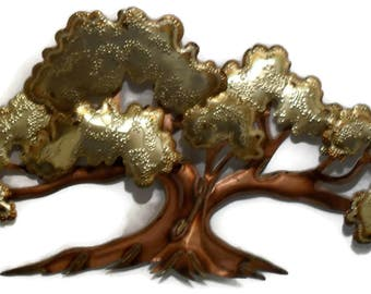 Vintage Copper Tree Wall Art Handmade