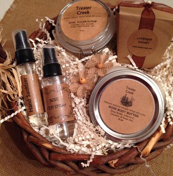 Rose and Lavender Gift  Basket