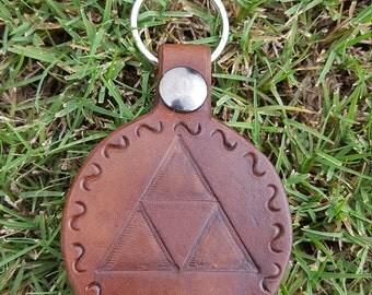 Leather Keychain- Legend of Zelda