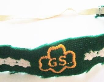 Vintage Girl Scout Felt Headband circa 1977