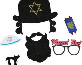 Custom Jewish Photo Booth Props  Mazal Tov  Chai