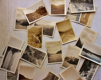 Set of 3 small scene photographs, lucky dip, vintage photography