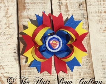 Hero Hair Bow -  boutique bow - Comic book hairbows