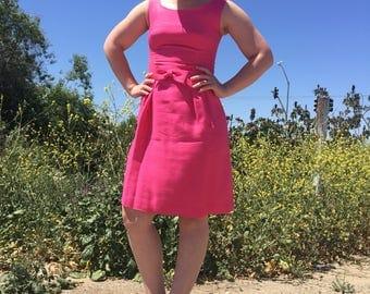 the Jackie O Dress : vintage 1950s dress//50s dress//50s pink dress//50s mini dress//a-line dress//unique dress