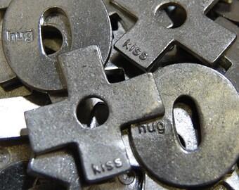 XO (Hug and Kiss) Pocket Tokens - SET OF 10 (5 of each)