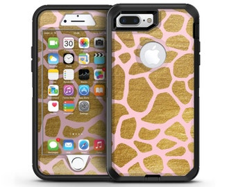 Pink Gold Flaked Animal v7 - OtterBox Case Skin-Kit for the iPhone, Galaxy & More