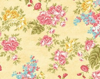 Forever Love~Flora Yellow~ Cotton Fabric by Benartex~Cotton Fabric, Quilt, Home Decor~Fast Shipping,F808