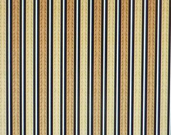 Feline Fine~Brown Stripe~ by Wilmington Prints~ Cotton Fabric for Sewing~Fast Shipping M165