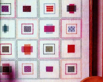 Darning Sampler Vintage Embroidery Pattern Download