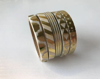 Gold and White Thin Washi Tape