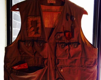 vintage abercrombie & fitch  fly fishing vest 1960's