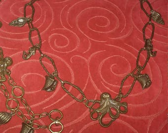Octopus Necklace and bracelet set