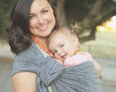 Ring Sling in Black Chambray Linen Blend | Lily & Mama Best Seller