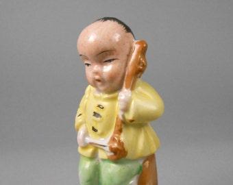 Miniature Vintage Japan Porcelain Asian Musician Occupied Japan