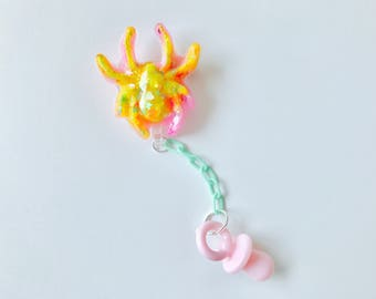 Pastel Cute Little Spider Girl Brooch