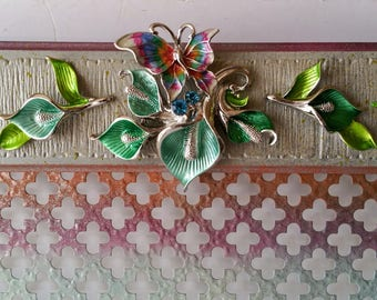 Floral jewelry hanger, Wall necklace holder, Earring organizer, Jewelry display, Wall earring holder, Necklace hanger, Jewelry holder wall