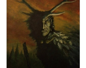 The Horned Man of the Woods - Cernunnos - Folklore and Fairy Tale Greetings Card
