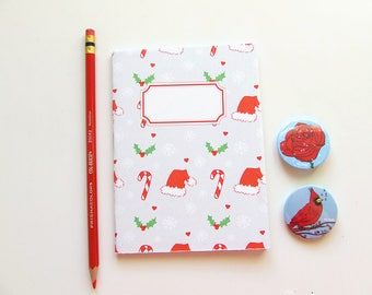 Christmas Pattern Journal - Blank Pages - Pocket Size Notebook