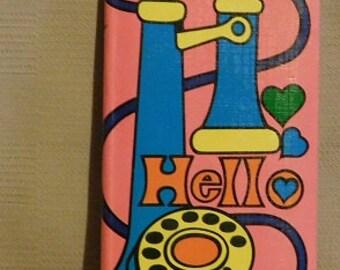 Vintage Talk to Me Address Book Made in Japan