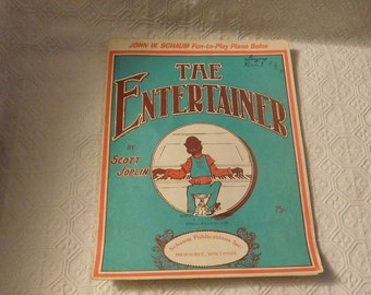 Black American The Entertainer Piano Sheet Music
