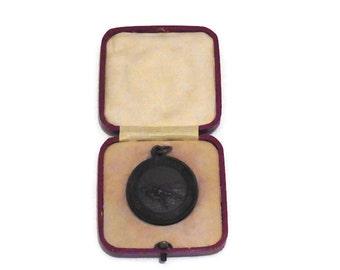 Antique Vintage Bronze Royal Life Saving Society Established 1891 - Life Saving Medallion awarded to T Murray July 1933