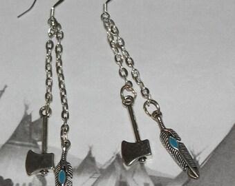 Indian spirit Guide Inspired thread earrings