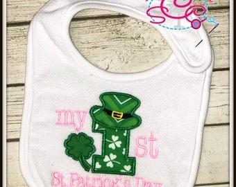 My First St. Patrick's Day Bib, Baby's 1st St. Patrick's Day, Baby's 1st, Baby's 1st Bib, 1st Occasion Bib