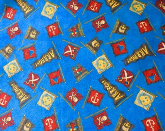 PIRATE FLAGS by Debbie Mumm ~ Fabric ~ ARRRGH ~ Pirates ~ Parrots ~ Boys ~ Quilting ~ Sewing ~ Skulls ~ Pirate Maps ~ Anchors Sword