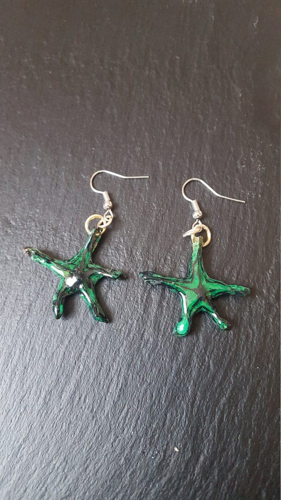 Real Carambola Earrings - real star fruit earrings