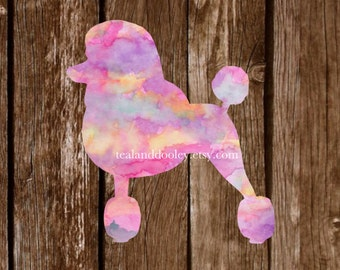 Lilly Pulitzer Inspired Poodle Vinyl Decal Sticker | Watercolor Poodle | Watercolor Decal